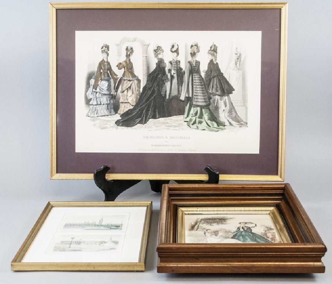 Antique Fashion Plate Print & Architectural Print
