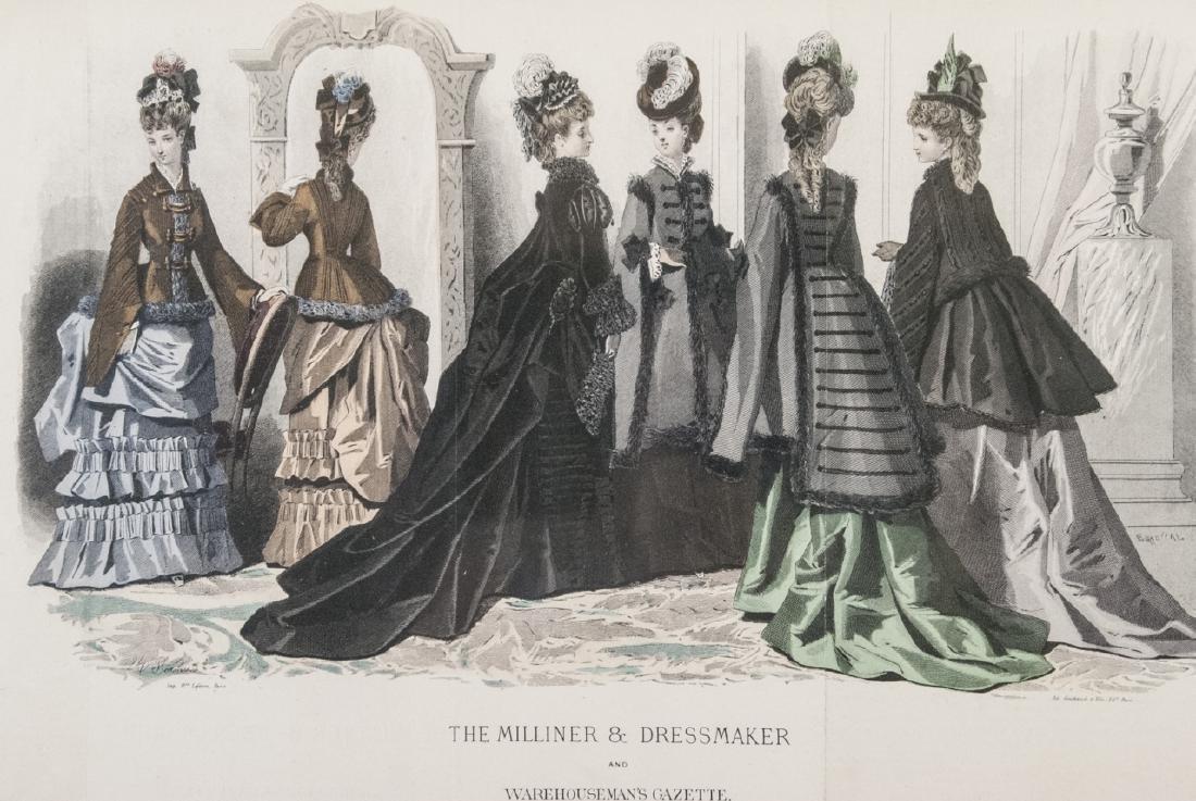 Antique Fashion Plate Print & Architectural Print - 2