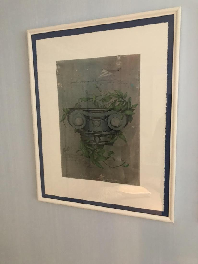 Pair Framed Prints of Corinthian Column Capitals - 2