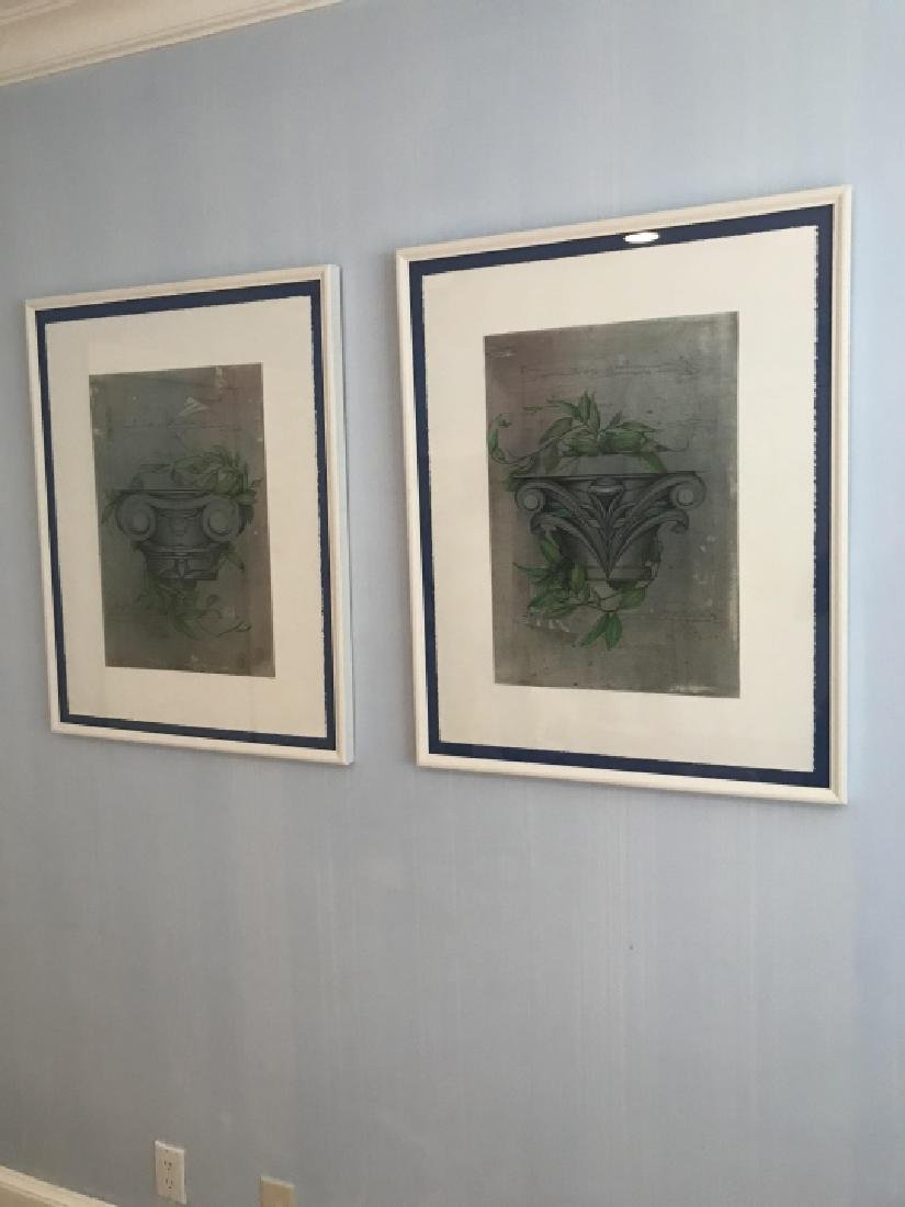 Pair Framed Prints of Corinthian Column Capitals - 3