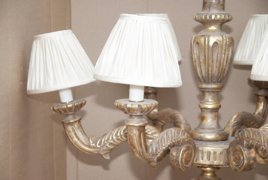 Neoclassical Style Gilded 6 Arm Chandelier - 3