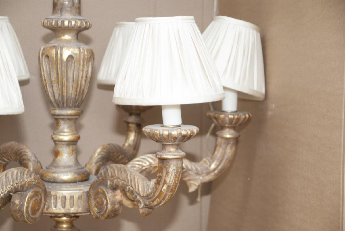 Neoclassical Style Gilded 6 Arm Chandelier - 4