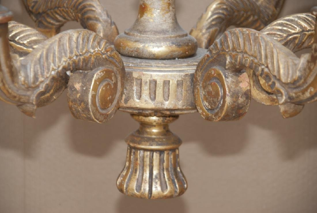 Neoclassical Style Gilded 6 Arm Chandelier - 5