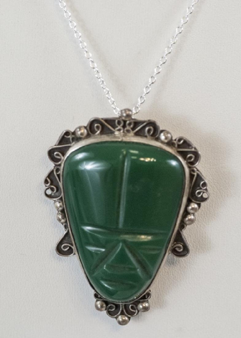 Vintage Mexico Sterling Silver Necklace Pendant