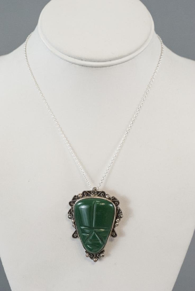 Vintage Mexico Sterling Silver Necklace Pendant - 5
