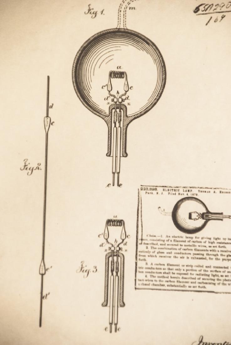 Reproduction Thomas Edison Patent Print Framed - 3