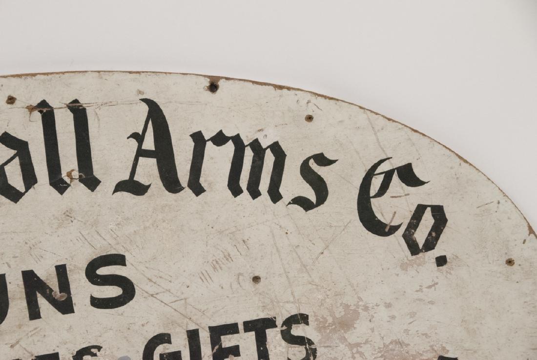 Antique Advertising Sign Gun,Gift & Antique Shop - 4