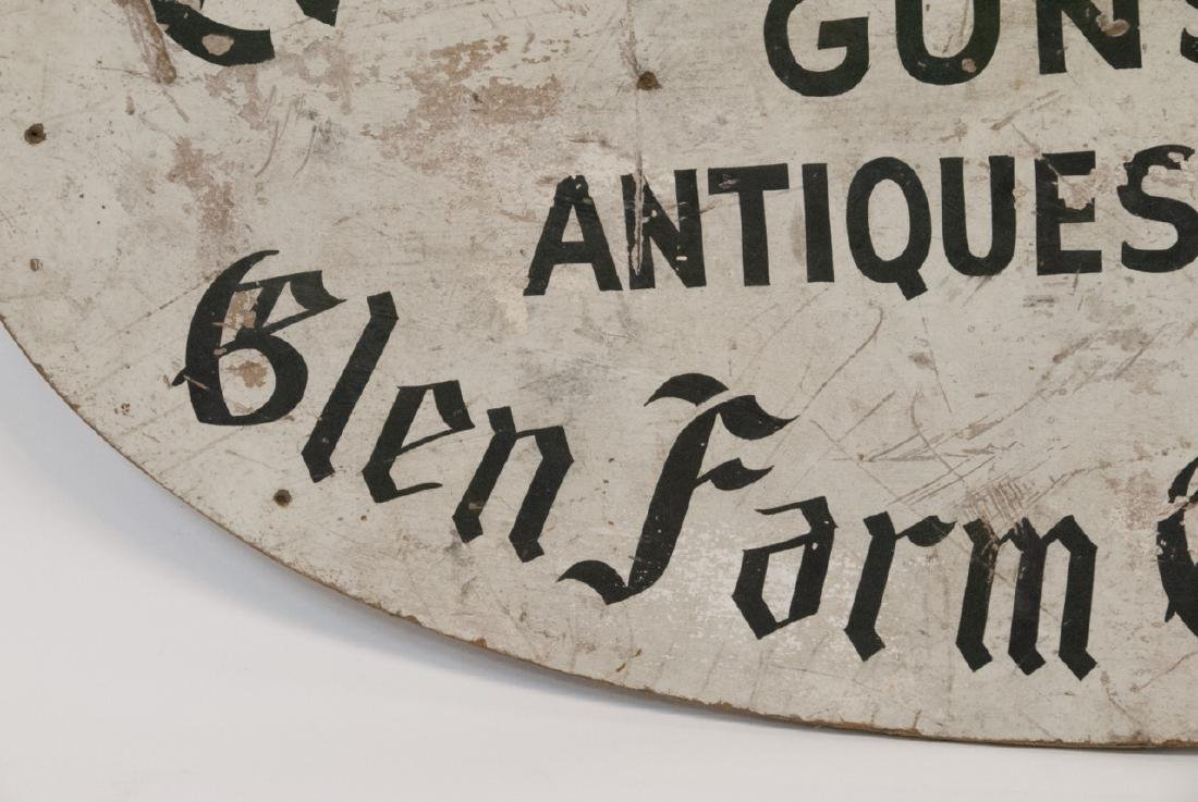 Antique Advertising Sign Gun,Gift & Antique Shop - 6