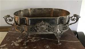 French Empire Style Silver Plate Center Piece Urn