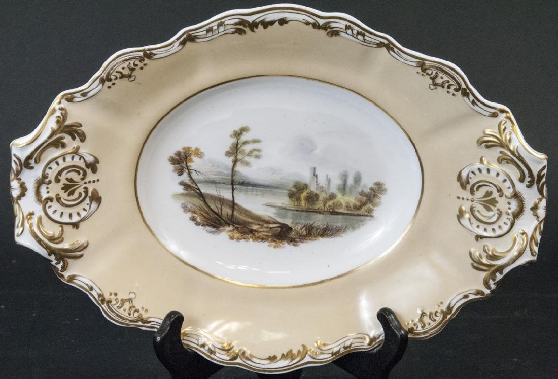 Antique 19th C Hand Painted Copeland Platter