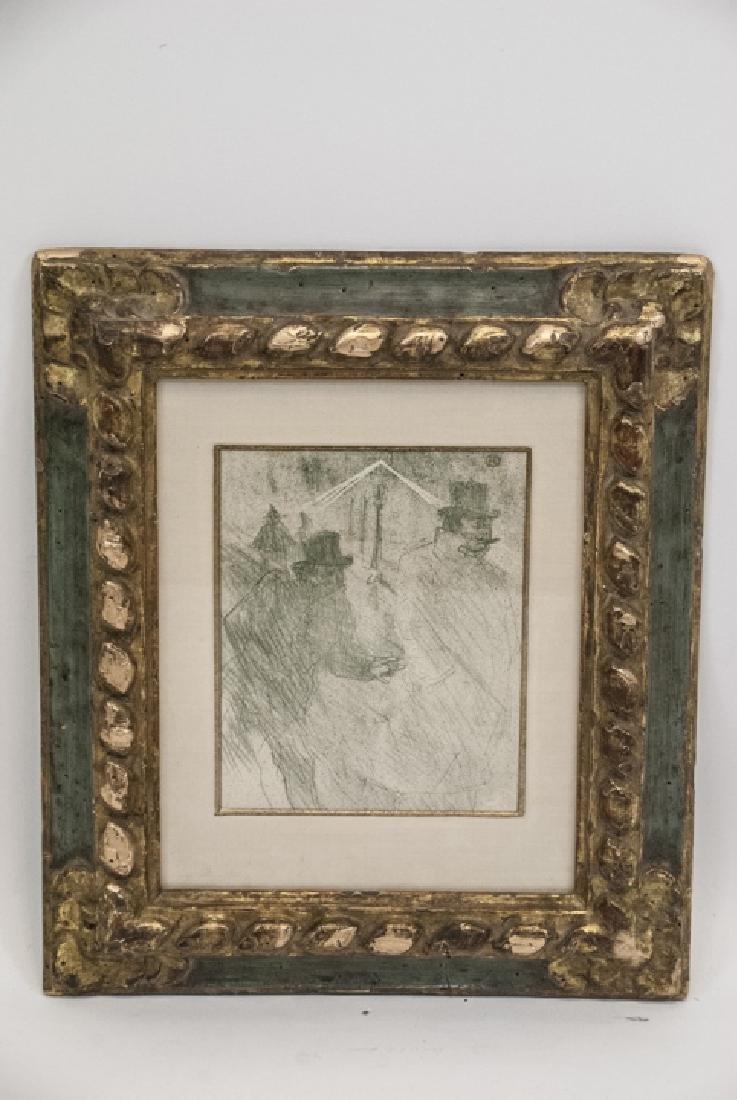 Toulouse Lautrec Lithograph w Sotheby's Paperwork - 10