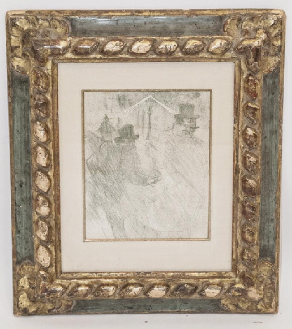 Toulouse Lautrec Lithograph w Sotheby's Paperwork