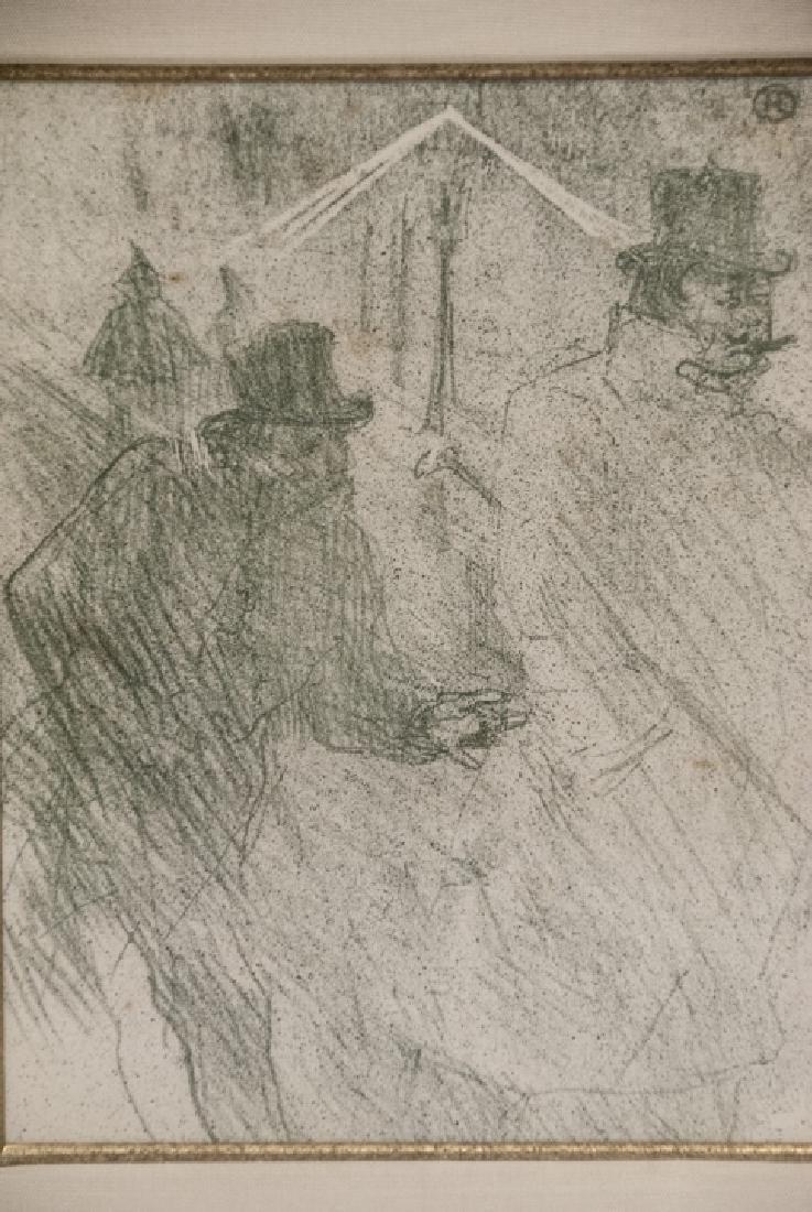 Toulouse Lautrec Lithograph w Sotheby's Paperwork - 6