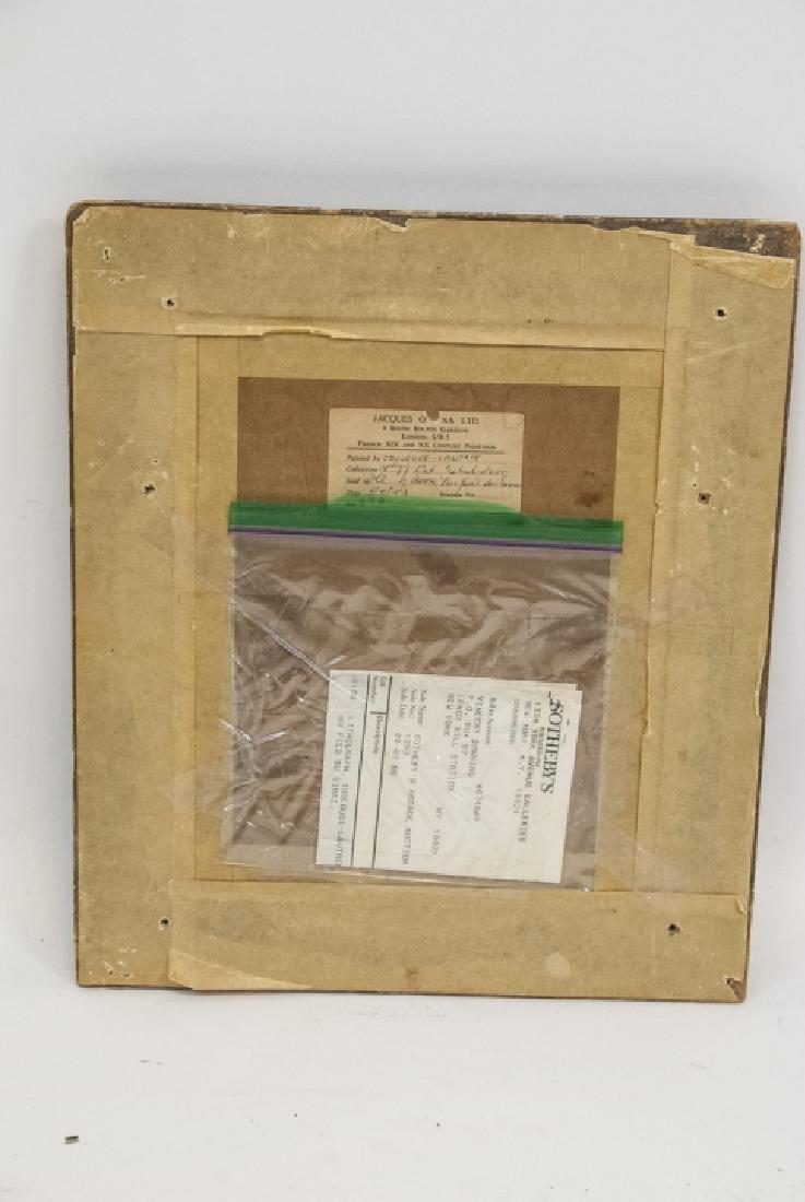 Toulouse Lautrec Lithograph w Sotheby's Paperwork - 7