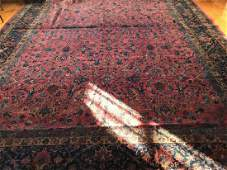 Large Antique Hand Knotted Quality Oriental Carpet