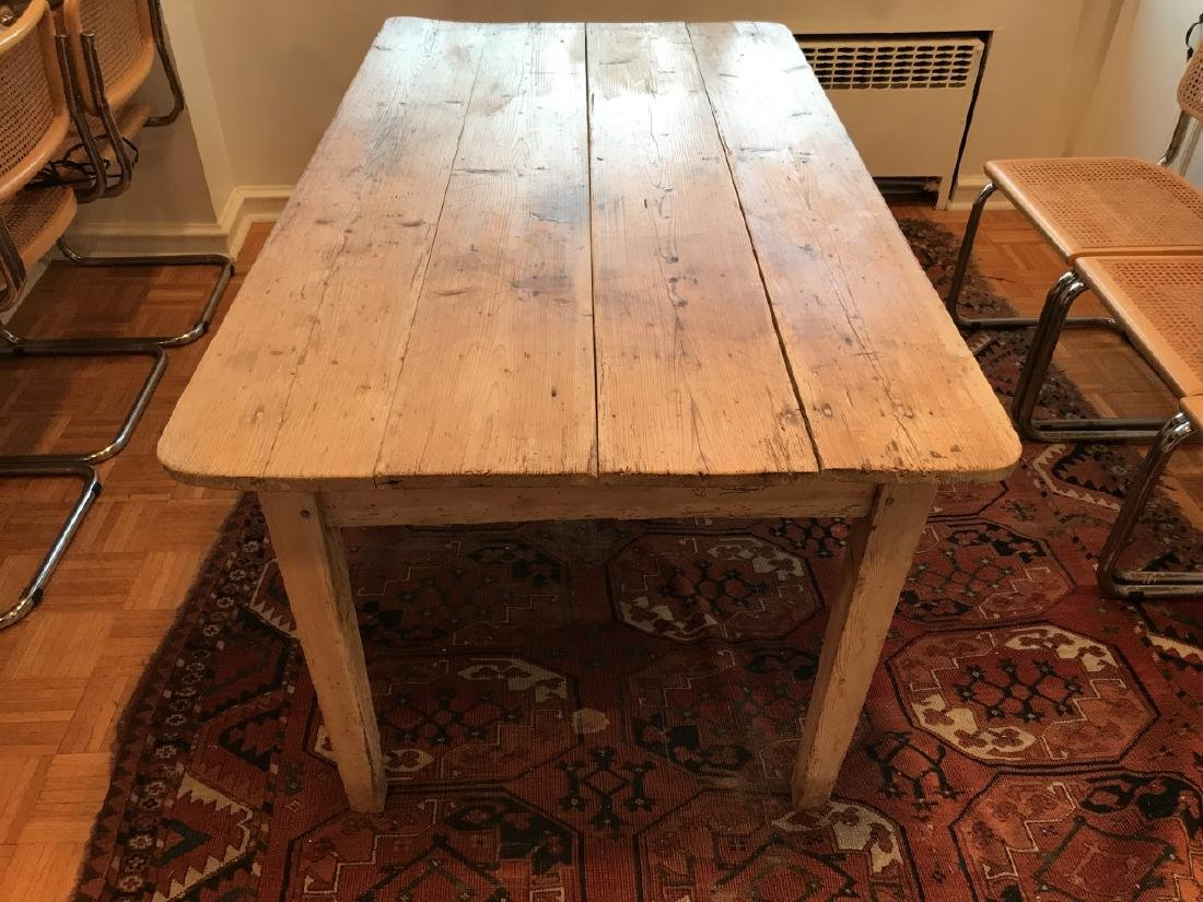 Antique 19th C American Pine Farm Dining Table - 3