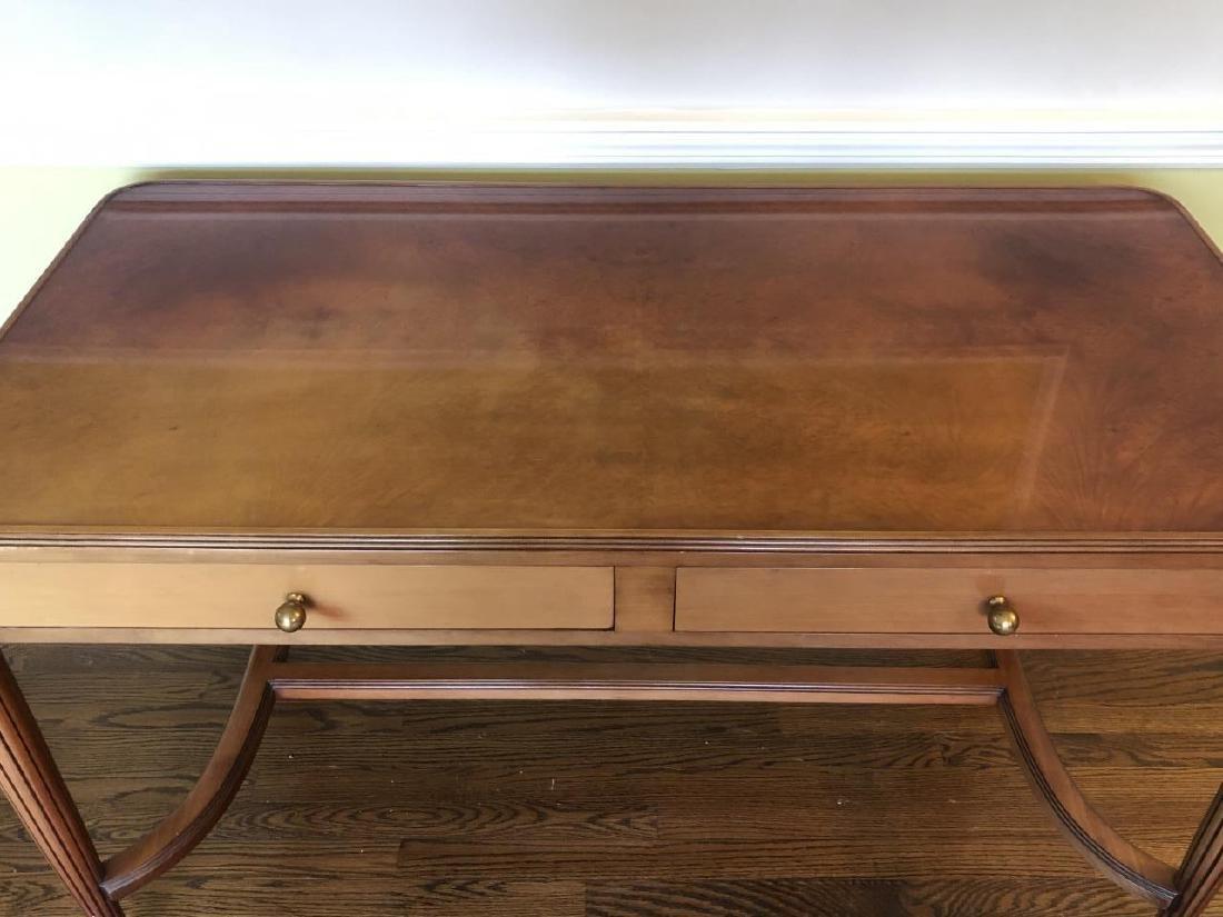 Art Deco Style Burled Wood Desk / Vanity - 2