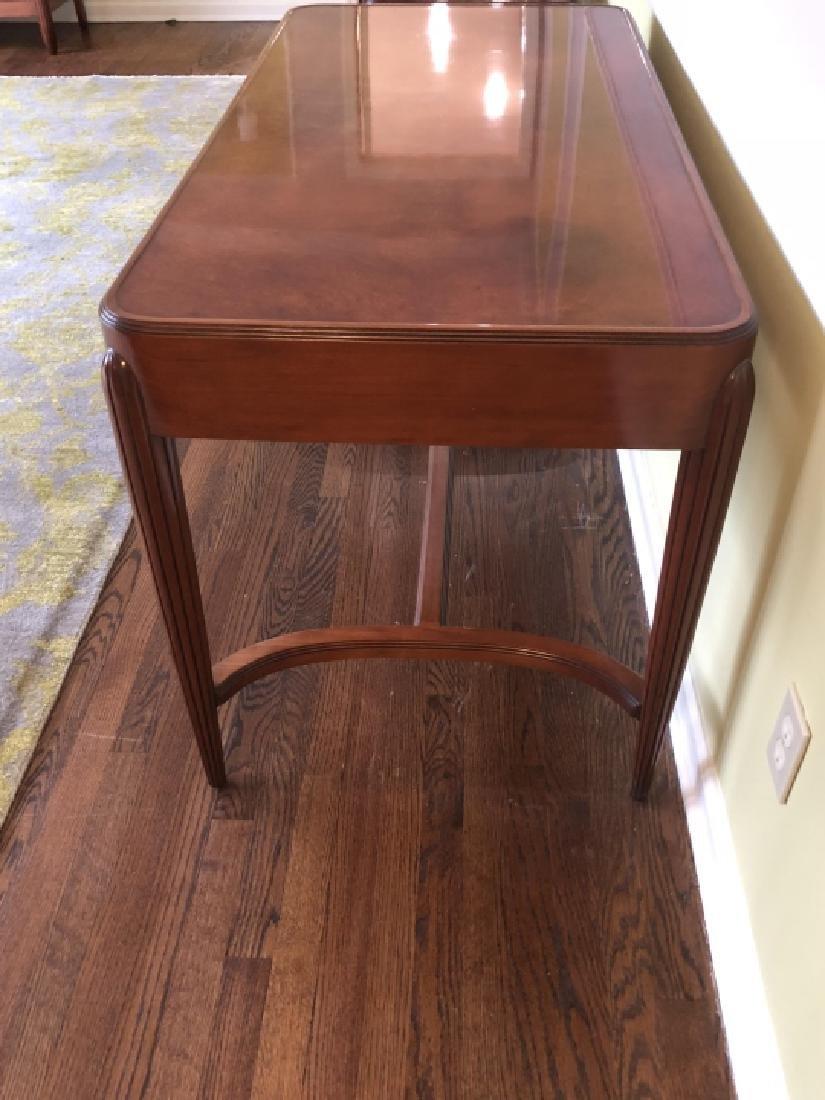 Art Deco Style Burled Wood Desk / Vanity - 3