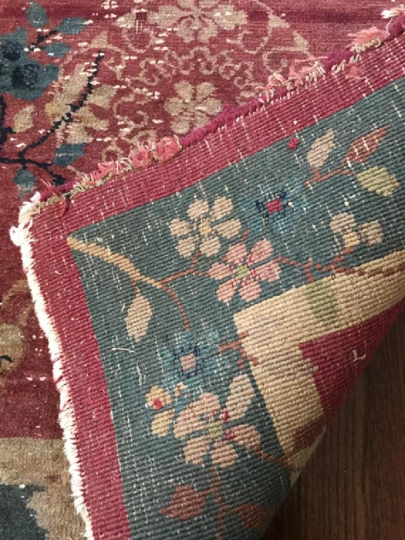 Antique Chinese Art Deco Style Throw Rug / Carpet - 5