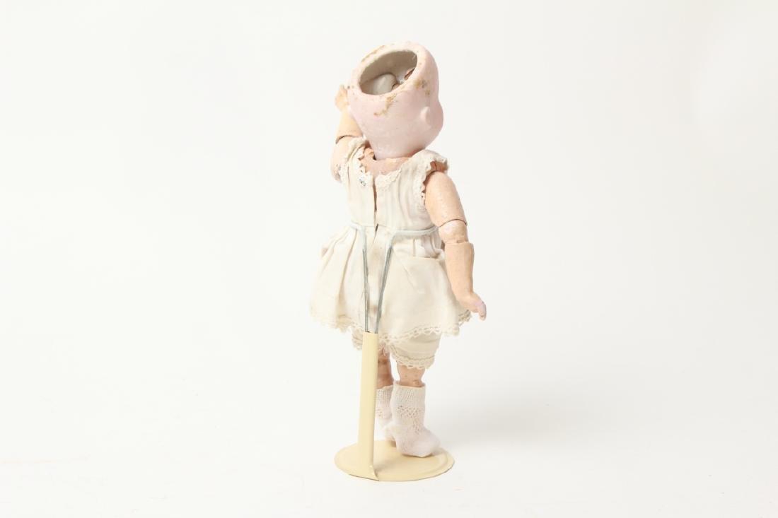 Antique German Small Bisque Doll w Straight Wrist - 2