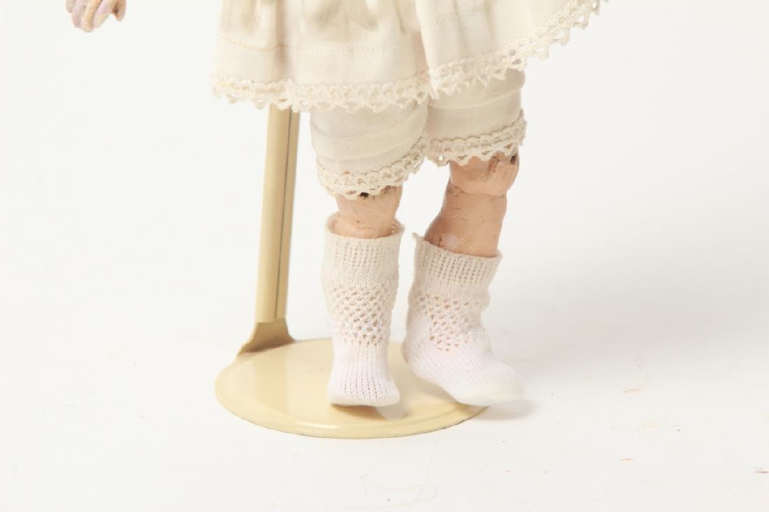 Antique German Small Bisque Doll w Straight Wrist - 5