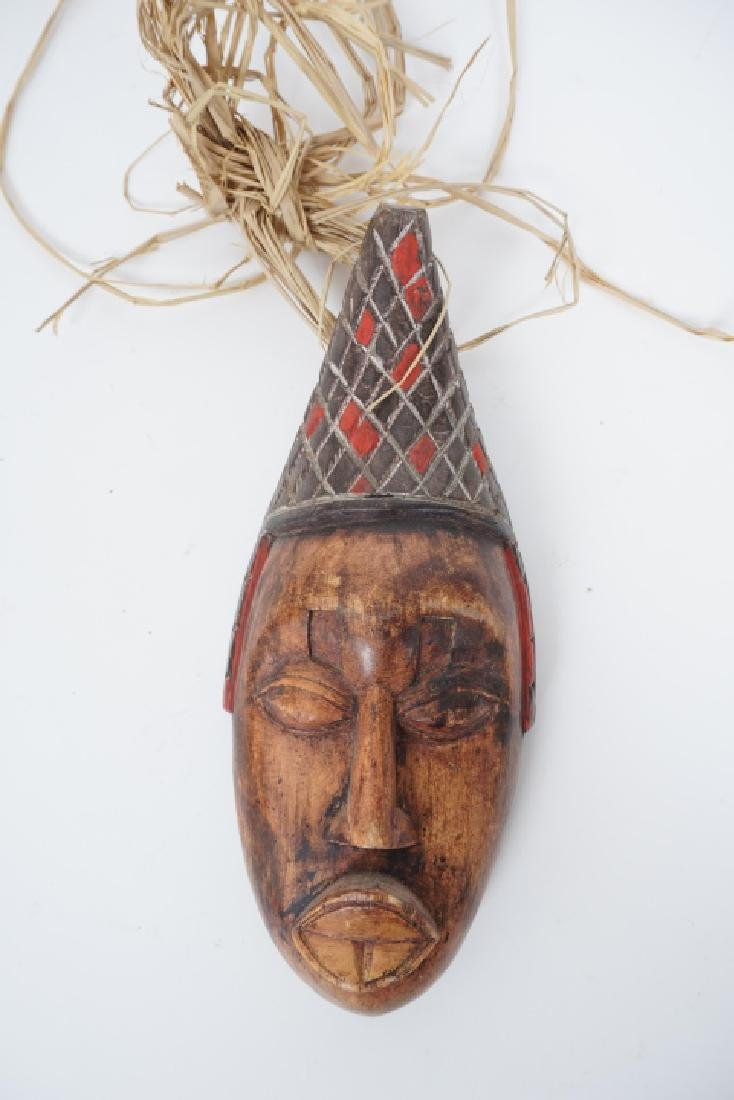 Collection of Vintage Hand Carved African Masks - 2