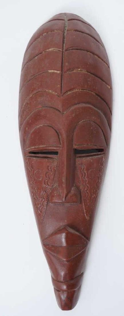 Collection of Vintage Hand Carved African Masks - 5
