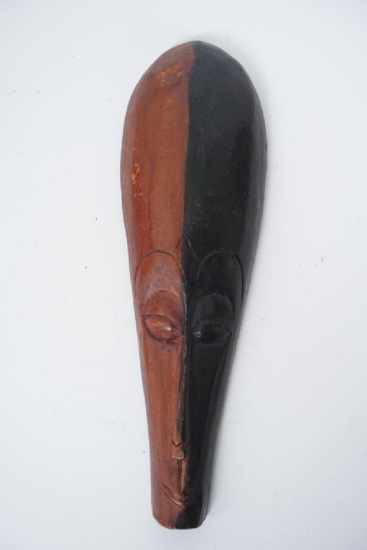 Collection of Vintage Hand Carved African Masks - 8