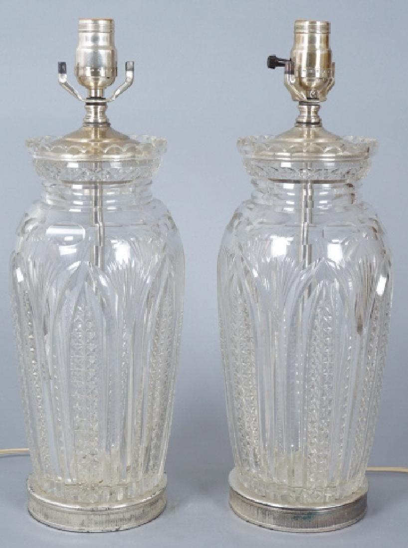 Pair, Swarovski Crystal Table Lamps