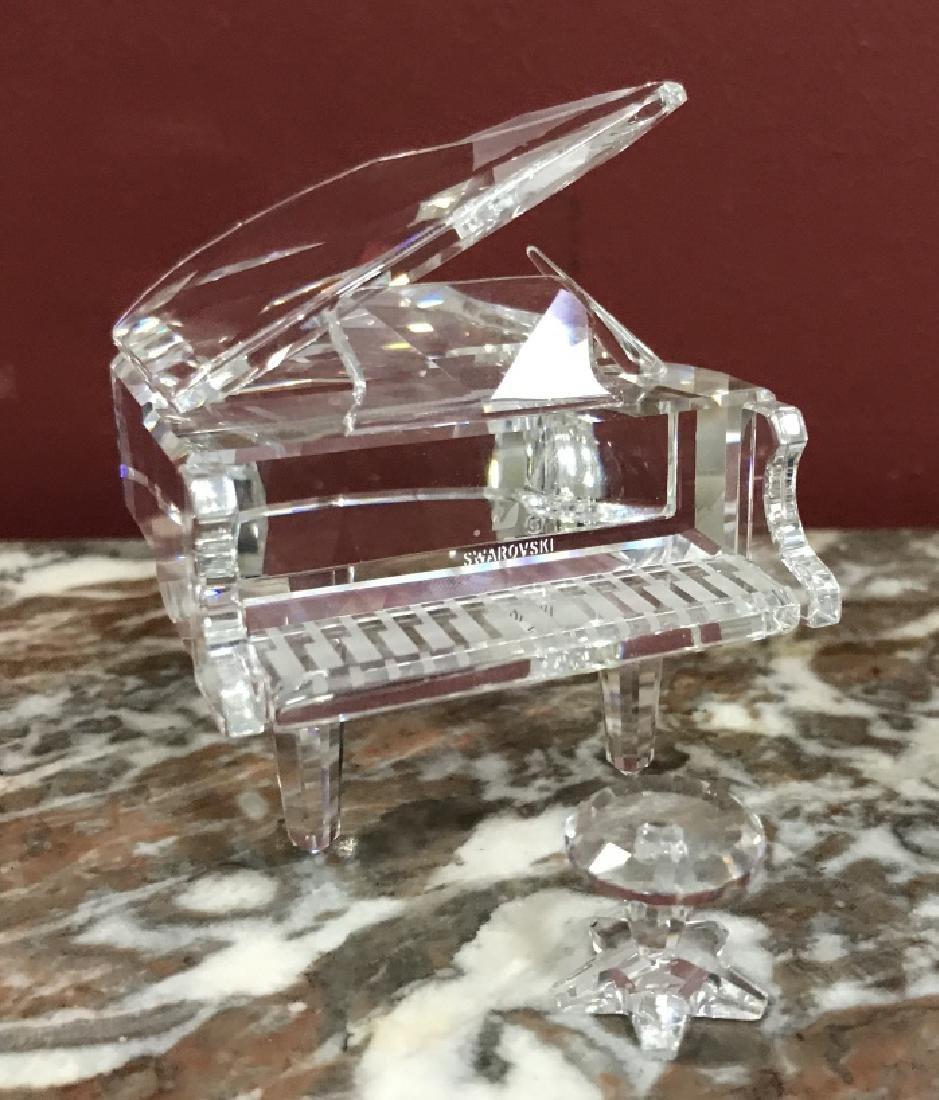 Miniature Swarovski Crystal Grand Piano Figurine