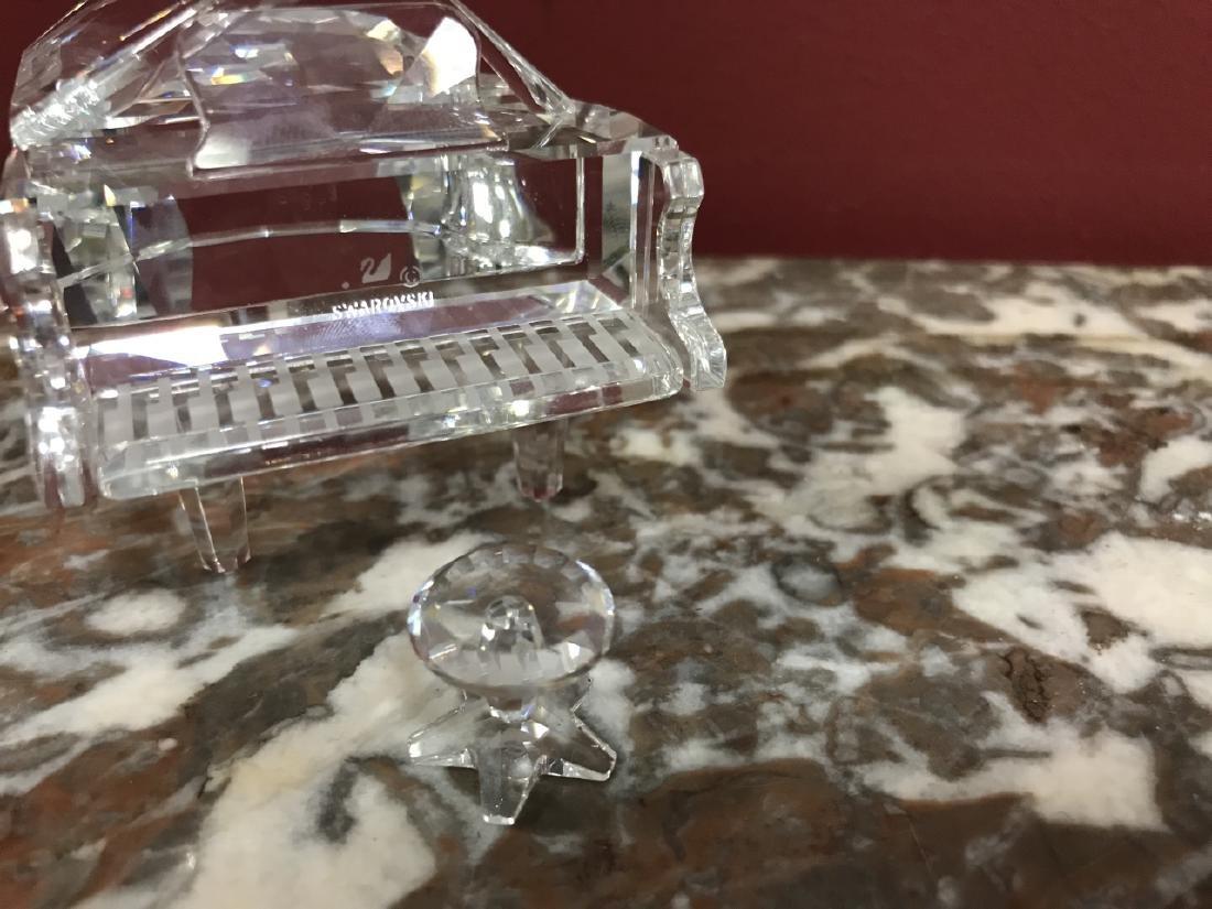 Miniature Swarovski Crystal Grand Piano Figurine - 3