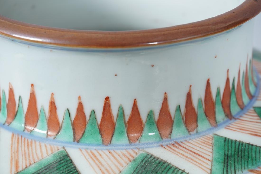 Chinese Famille Verte Porcelain Ginger Jar - 4