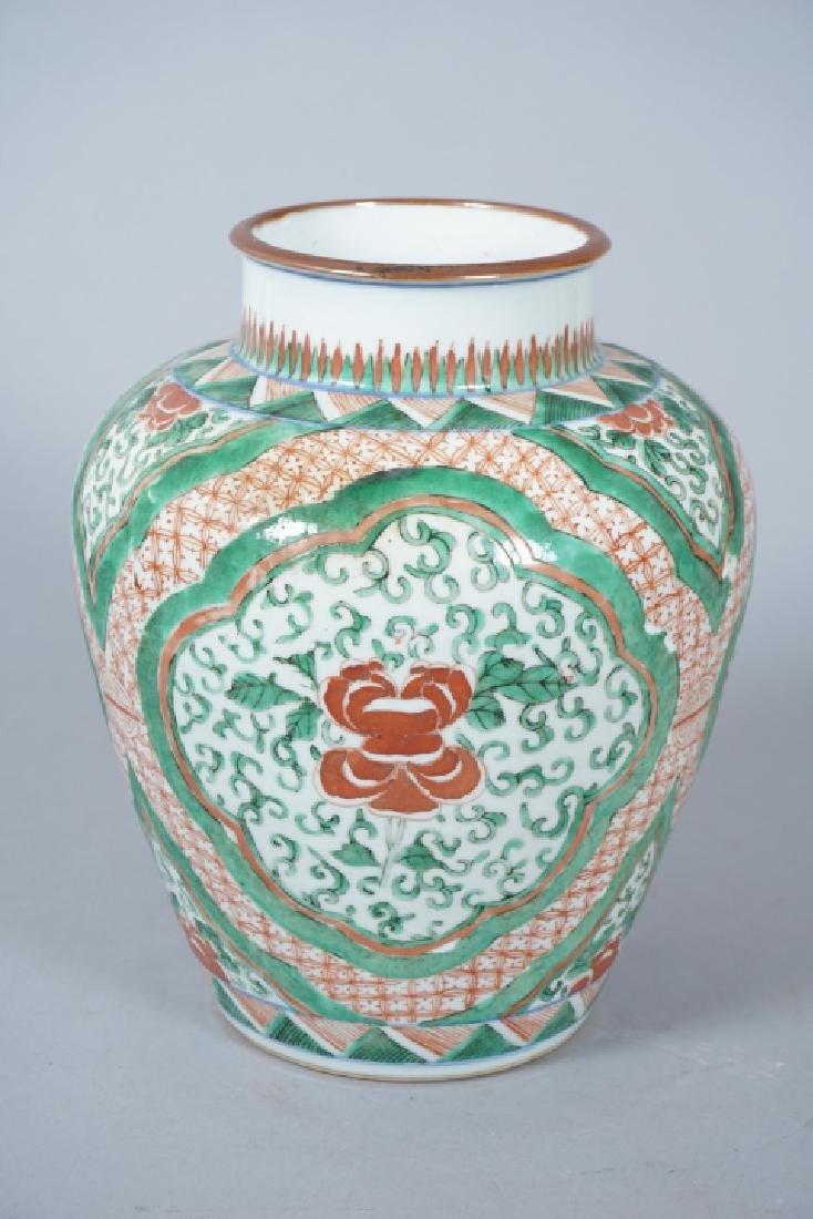 Chinese Famille Verte Porcelain Ginger Jar - 6