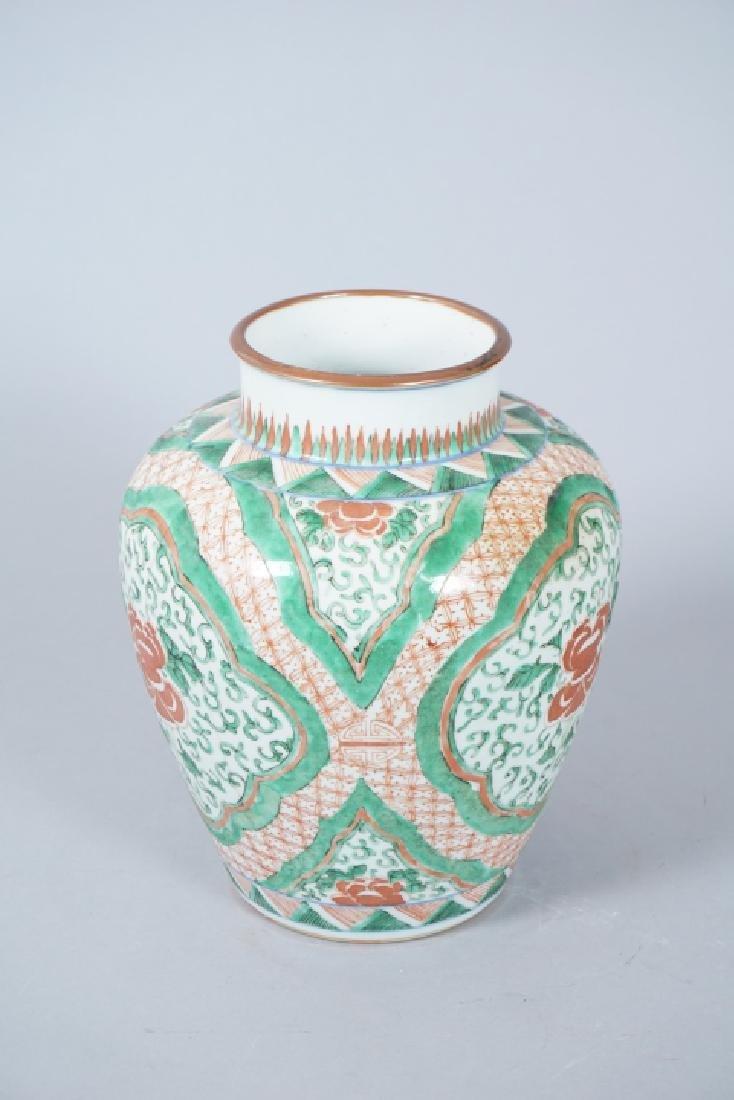 Chinese Famille Verte Porcelain Ginger Jar - 9