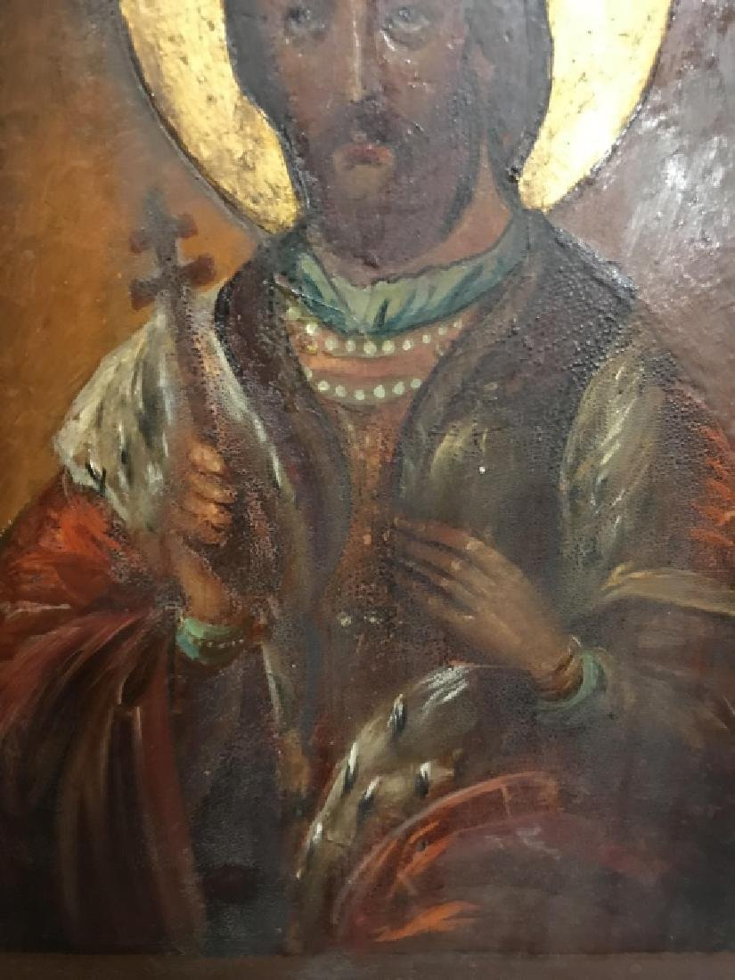 Antique 19th C Russian Icon of Alexander Nevsky - 4