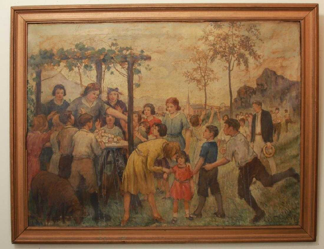 Original Depression Era Oil Painting on Canvas