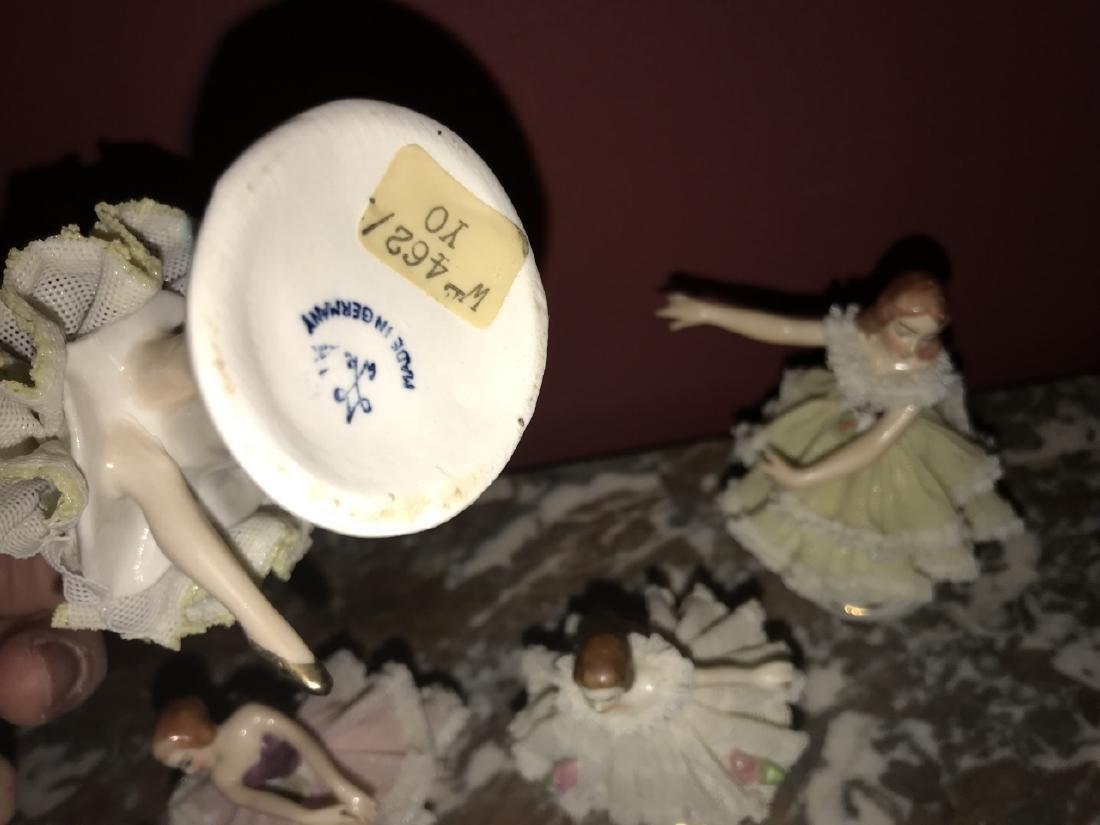 4 German Dresden Porcelain Ballerina Figurines - 2