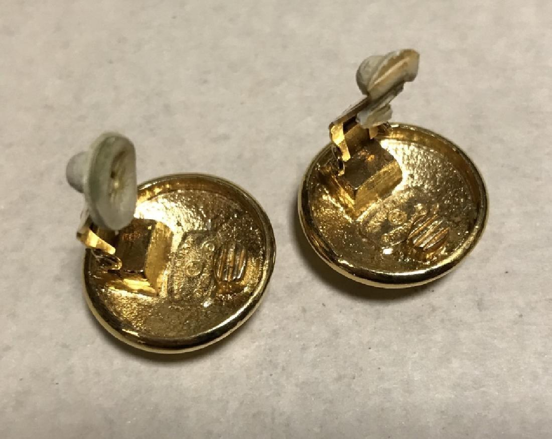 Vintage Chanel Double C Logo Clip Earrings - 3