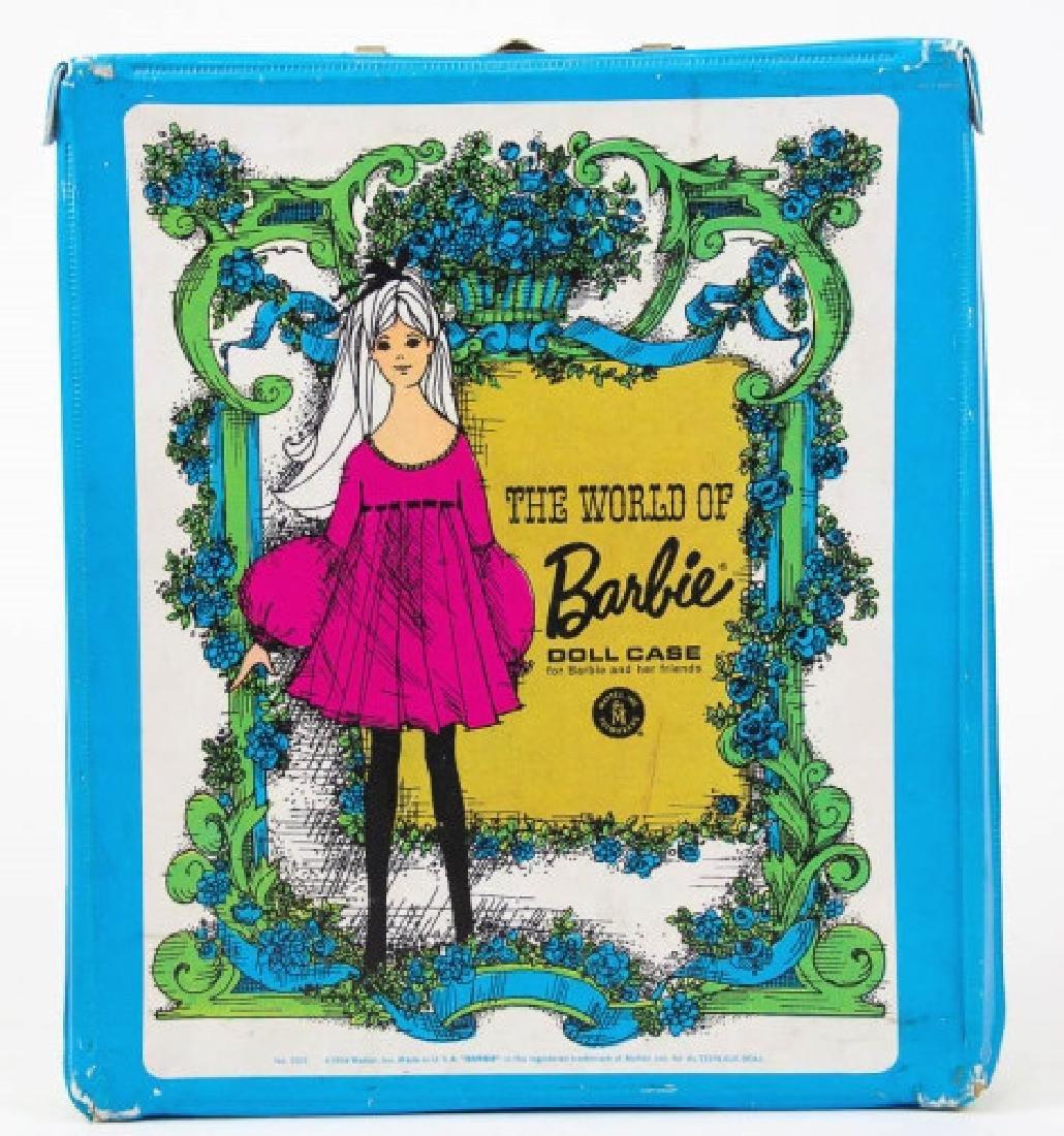 1968 The World of Barbie Doll Case & 2 Vtg Dolls