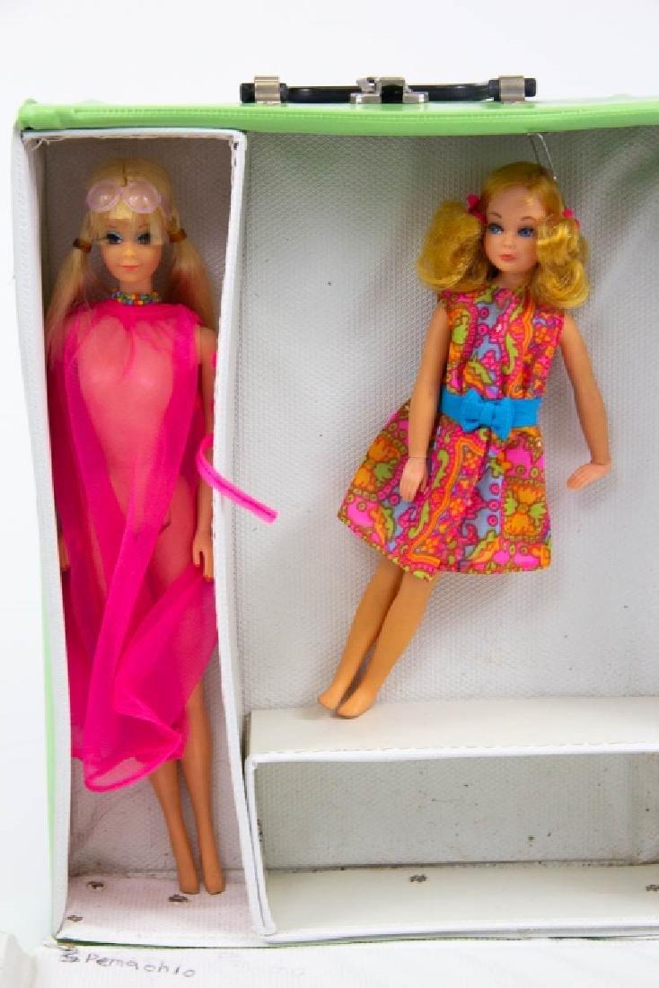 1968 The World of Barbie Doll Case & 2 Vtg Dolls - 3