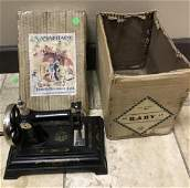 """French """"Baby"""" Child's Size / Toy Sewing Machine"""