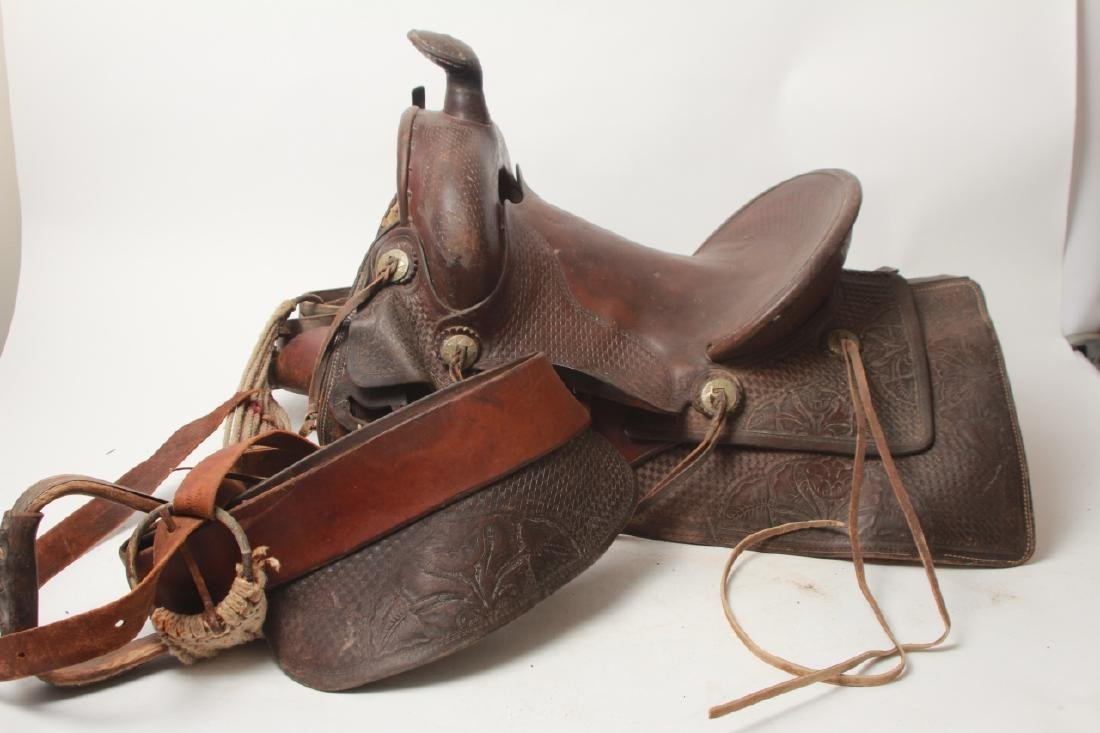 Vintage Shipley Western Leather Saddle - 10
