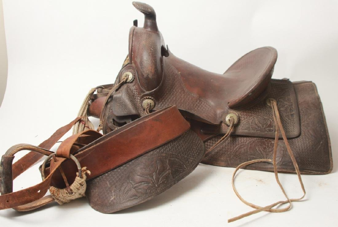 Vintage Shipley Western Leather Saddle