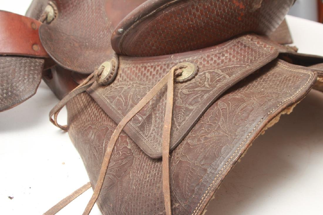 Vintage Shipley Western Leather Saddle - 4