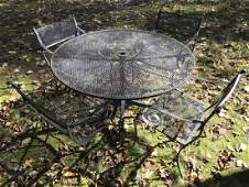 Vintage Mesh Metal Outdoor / Garden Dining Set