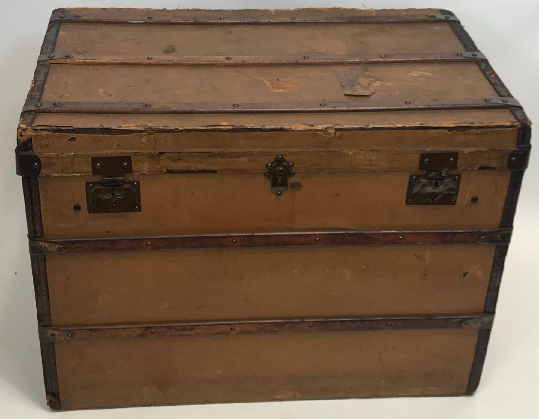 Early 20th C French Adolf Albin Steamer Trunk