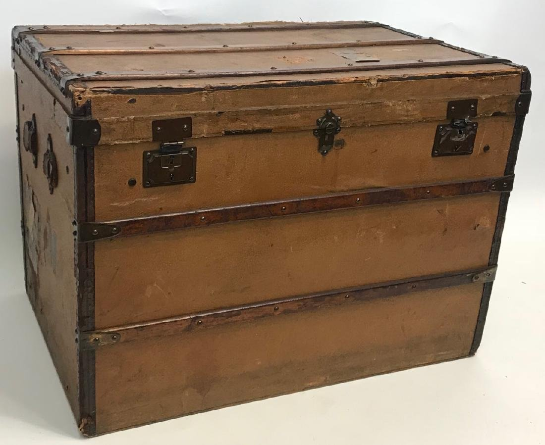 Early 20th C French Adolf Albin Steamer Trunk - 2