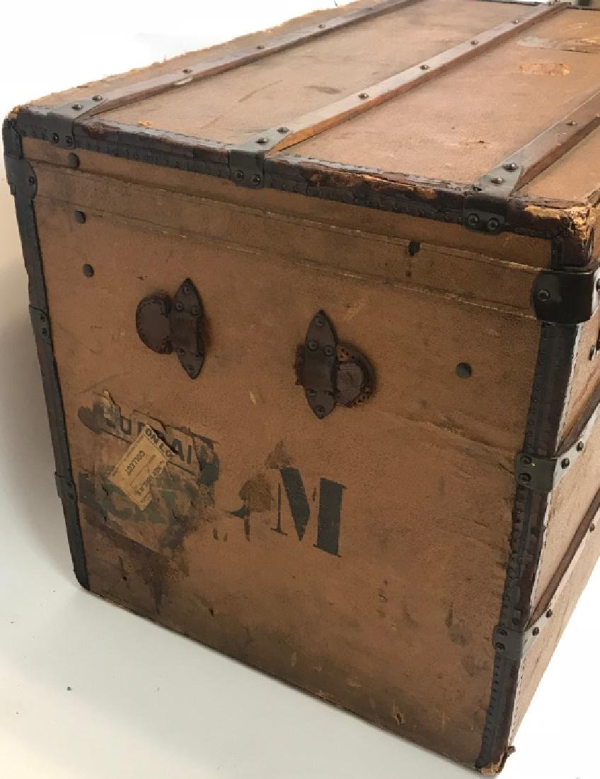 Early 20th C French Adolf Albin Steamer Trunk - 3