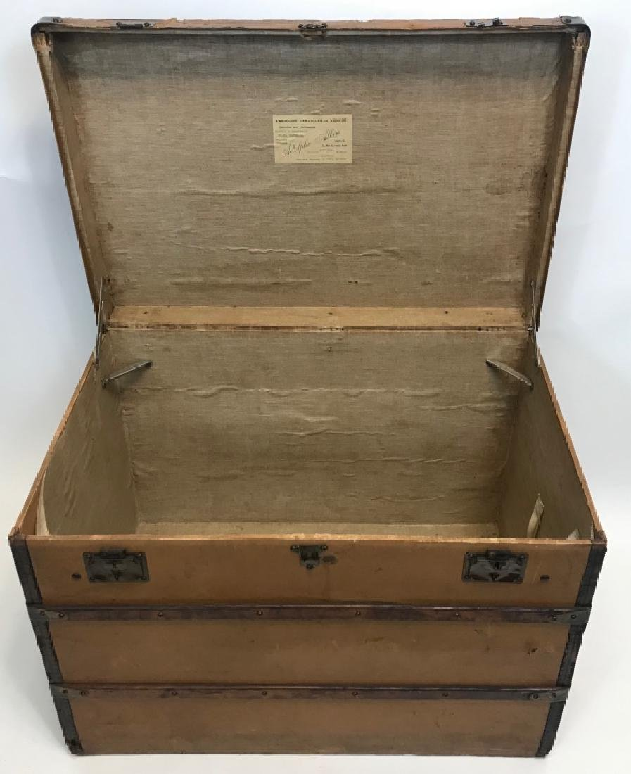 Early 20th C French Adolf Albin Steamer Trunk - 4