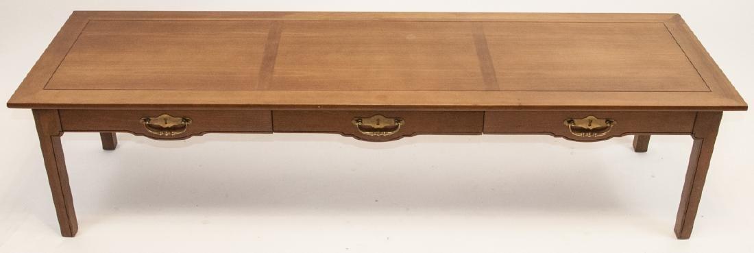 American Federal Style Oak Coffee Table